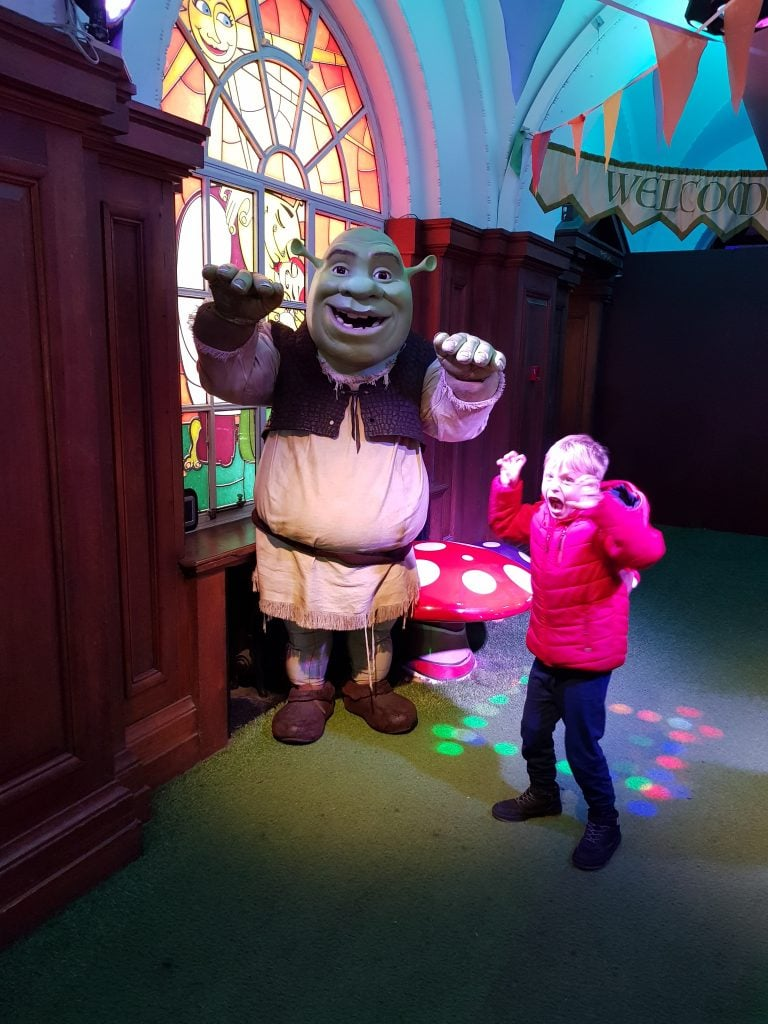 Meet and greet with Shrek
