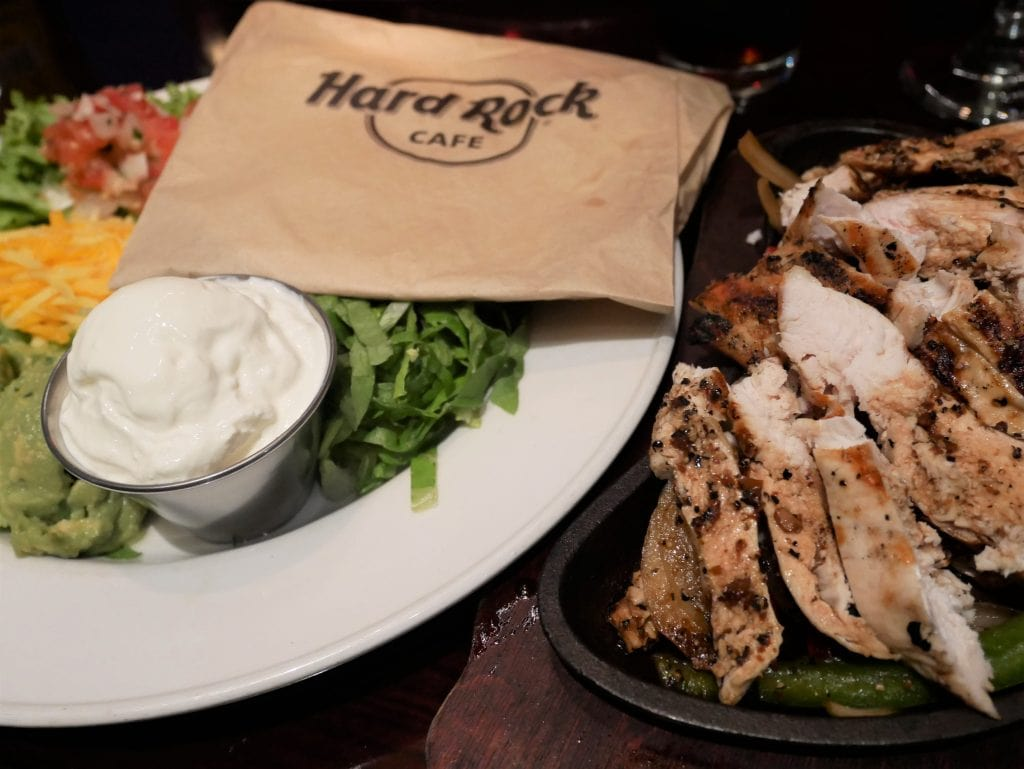 Chicken fajitas Hard rock cafe