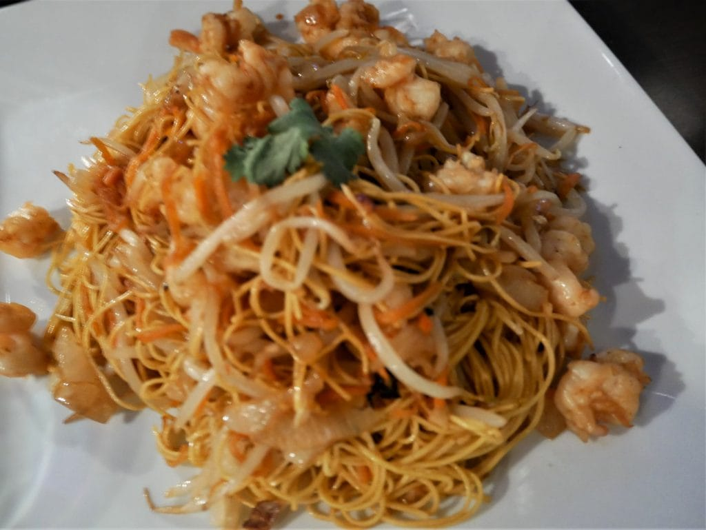 Shrimp chow mein Planet Hollywood