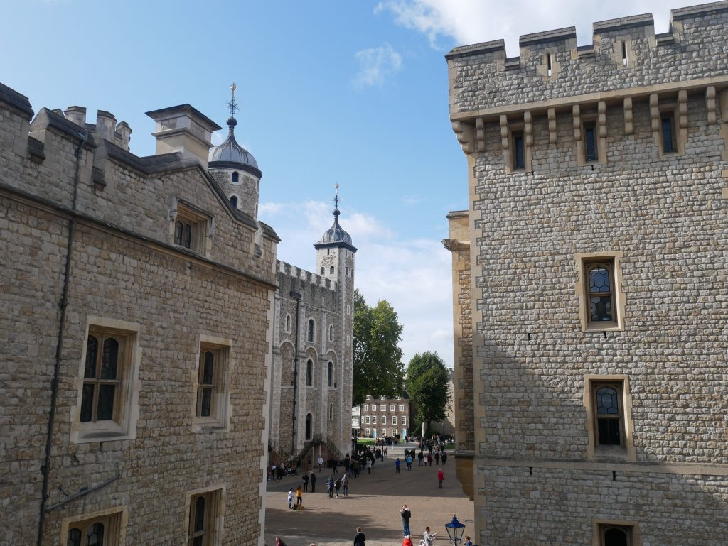 Some of the many buildings that now make up the Tower of London