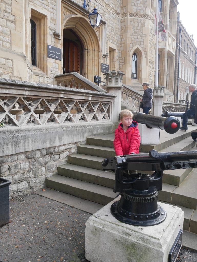 Outside the Fusilier museum