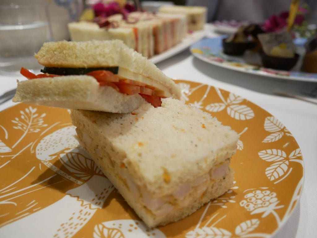 Sandwiches at Taj 51 Afternoon tea