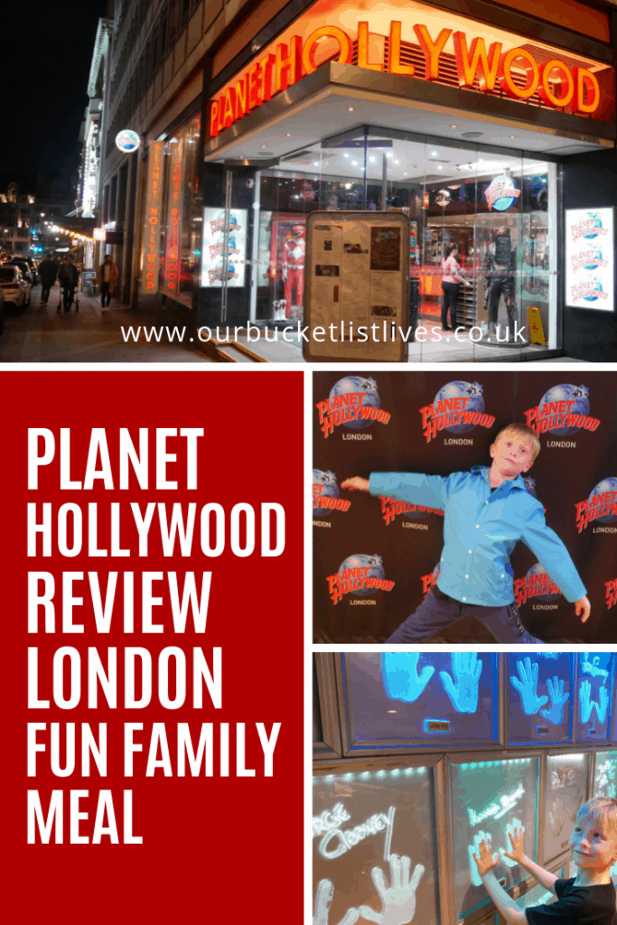 Planet Hollywood Review London | A Fun Family Meal out