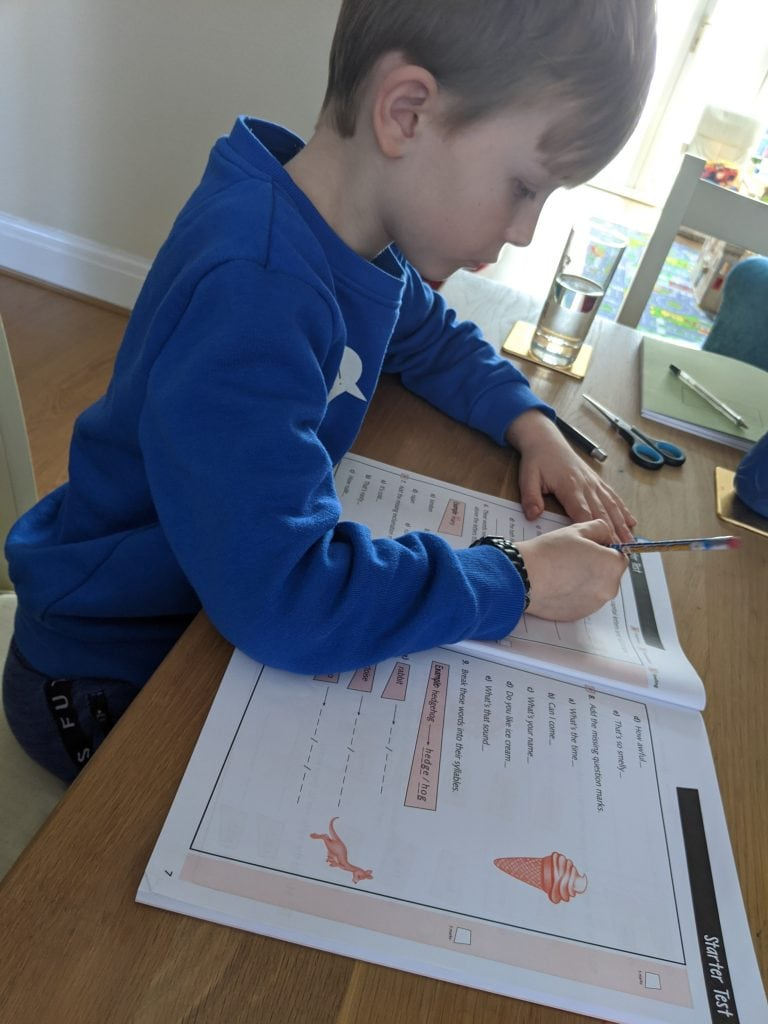 Family Isolation Home School Diary Week 1
