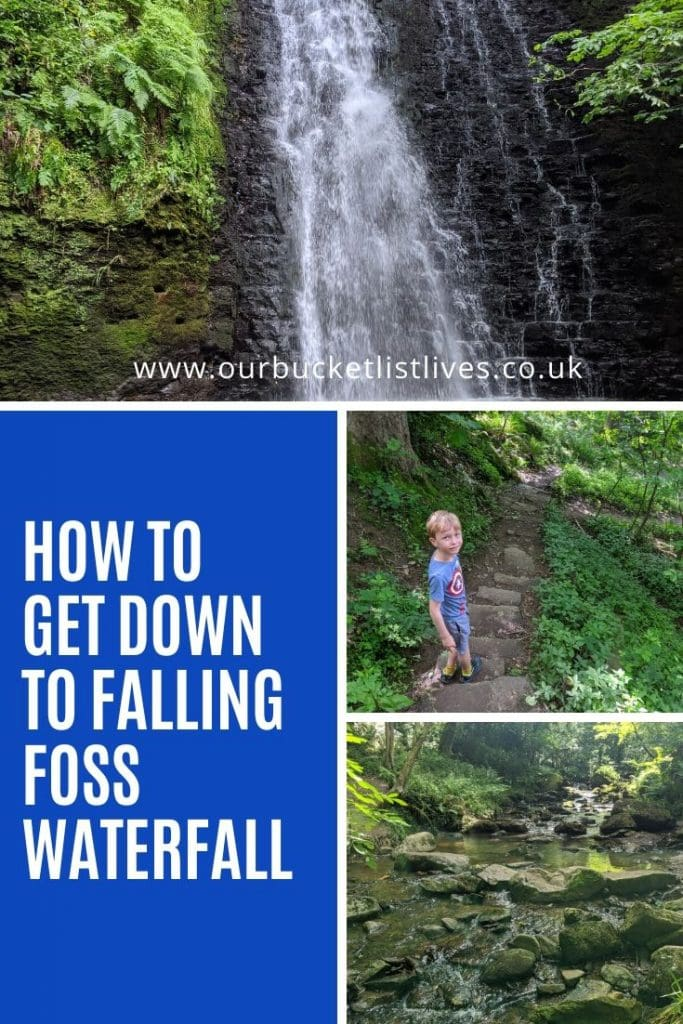 How to Get Down to Falling Foss Waterfall