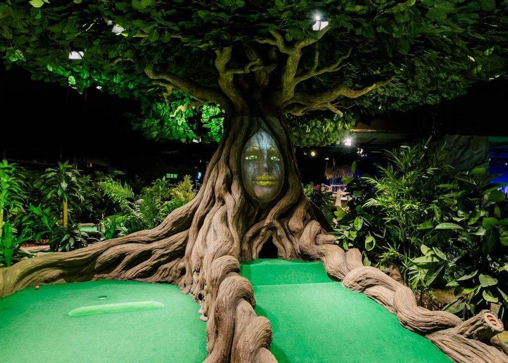 Treetop Adventure Golf Birmingham