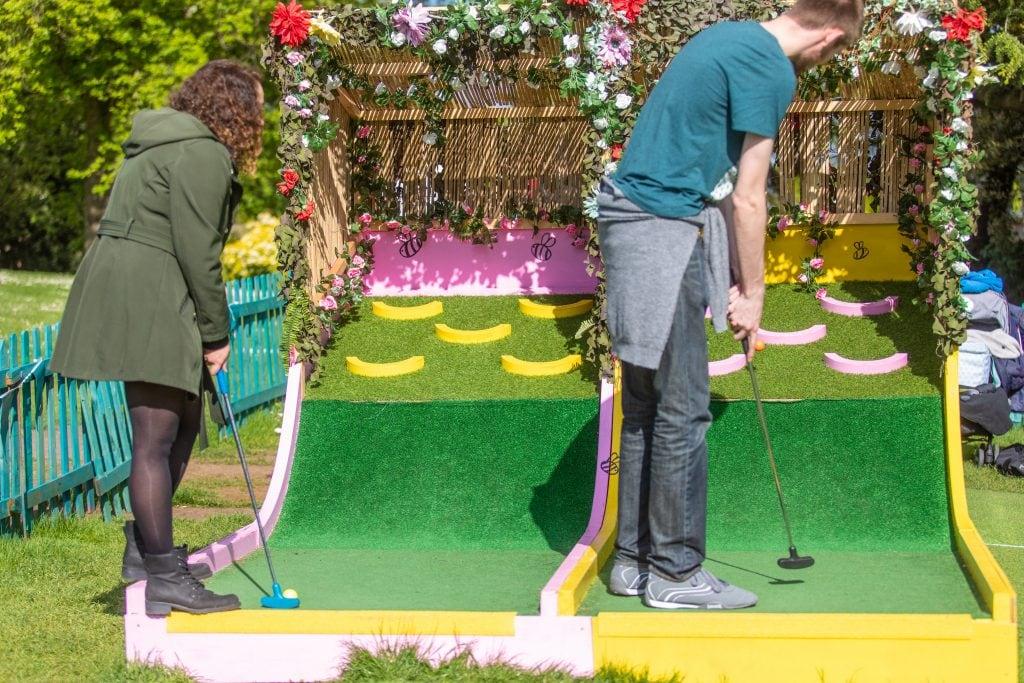 Plonk Crazy Golf in London Horniman Museum