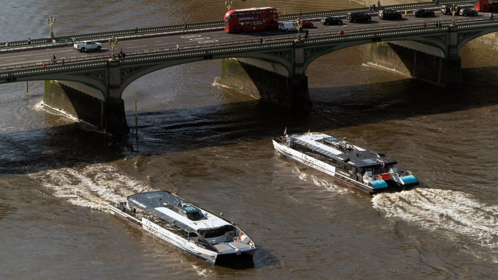 Thames Clippers Uber Boat